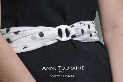 Looking for scarf rings? ANNE TOURAINE Paris™ has a large collection of precious scarf rings and silk scarves.