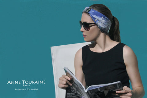 How to keep your scarf in place with one of ANNE TOURAINE Paris™ gorgeous scarf rings