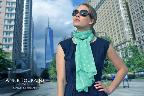silk-scarf-scarves-anne-touraine-paris-carres-soie-chiffon-oblong-colors-blue-teal-sea green-zodiac-astrological-pisces
