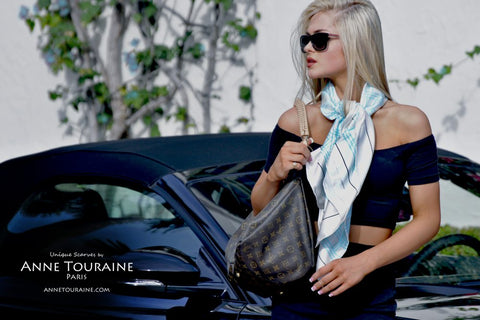 silk-scarf-scarves-anne-touraine-paris-carres-soie-large-blue-turquoise-zodiac-astrological-aquarius