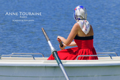 Modern pirate head scarves with an ANNE TOURAINE Paris™ silk scarf