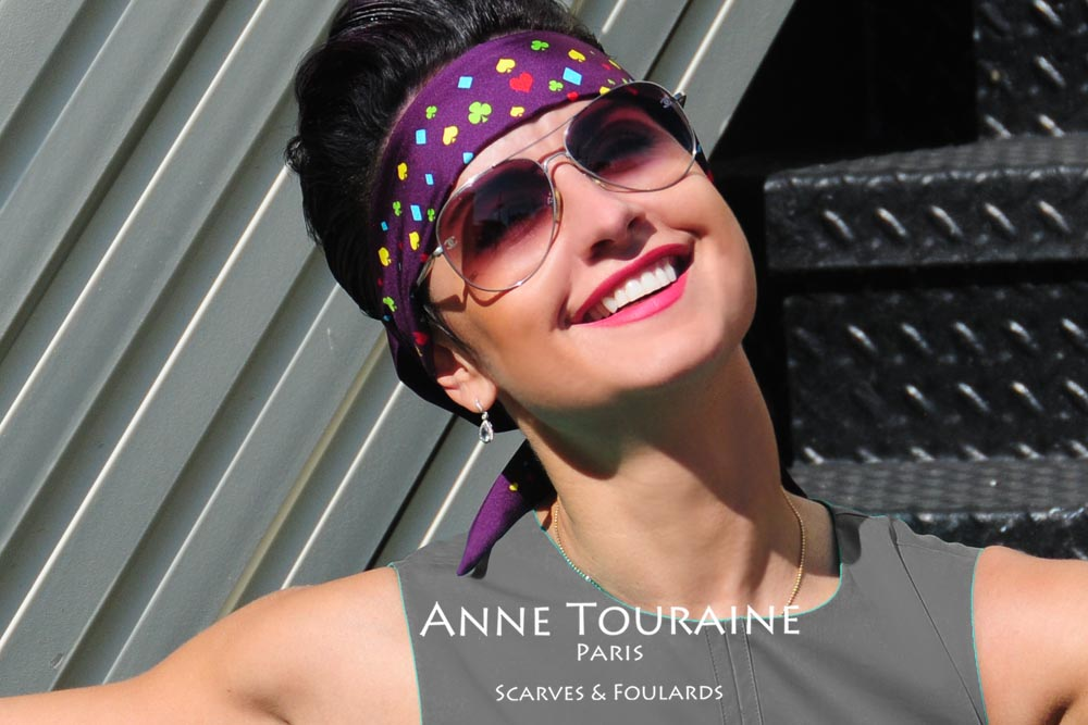 Silk twillies by ANNE TOURAINE Paris™: smile! It's headband time!