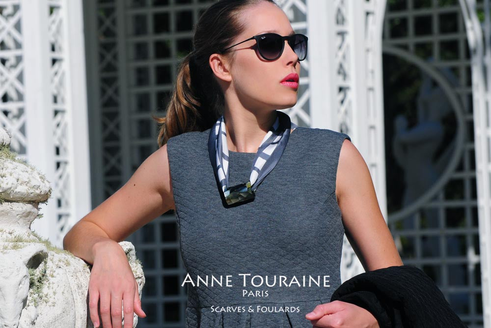 Silk twillies by ANNE TOURAINE Paris™:necklace time with a scarf ring