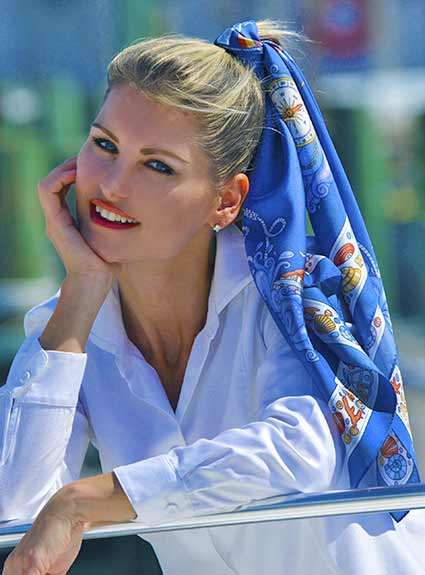luxury french silk scarves by anne touraine paris pop up photo