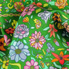 Green floral silk scarf made in France by ANNE TOURAINE Paris™ scarves (3)