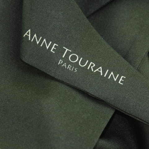 Silk twillies: black silk twilly by ANNE TOURAINE Paris™