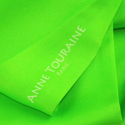 Silk twillies: green silk twilly by ANNE TOURAINE Paris™