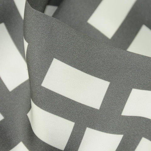 Silk twillies: grey and white silk twilly by ANNE TOURAINE Paris™