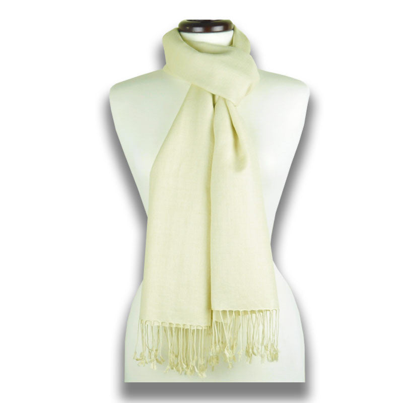Champagne pashmina cashmere silk by ANNE TOURAINE Paris™: soft,warm,and cozy (2)