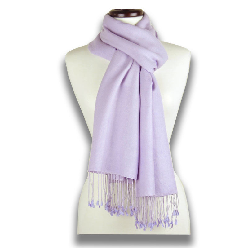 Lavender blue pashmina cashmere silk by ANNE TOURAINE Paris™: soft,warm,and cozy (1