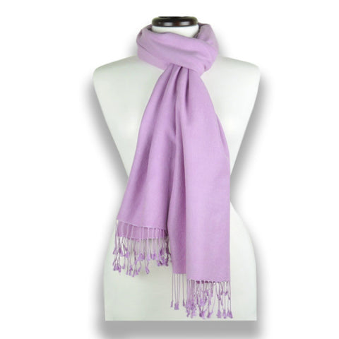 Lilac pashmina cashmere silk by ANNE TOURAINE Paris™: soft,warm,and cozy (1