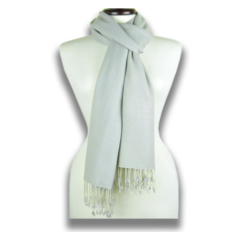 Grey pashmina cashmere silk by ANNE TOURAINE Paris™: soft,warm,and cozy (2)