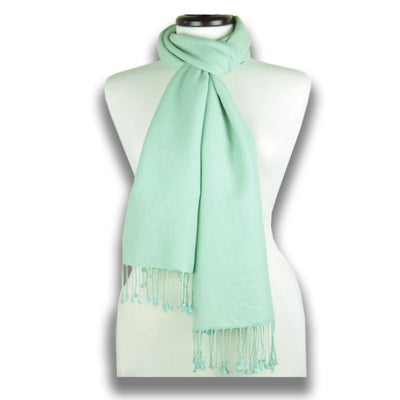 Teal blue pashmina cashmere silk by ANNE TOURAINE Paris™: soft,warm,and cozy (1)