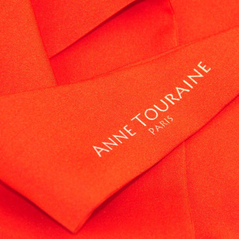 Silk twillies: red silk twilly by ANNE TOURAINE Paris™