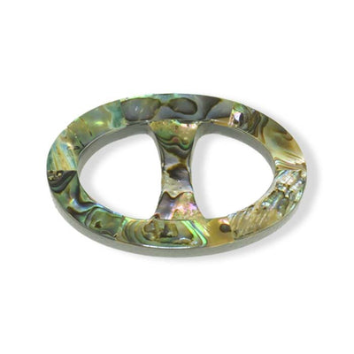 Paua shell handcrafted scarf ring. Large size. A fun, essential, and versatile complementary to your ANNE TOURAINE Paris™ silk scarves. (1)