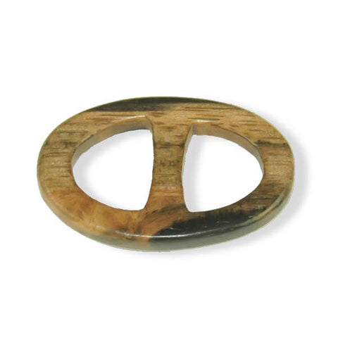 Exotic wood handcrafted scarf ring. Large size. A fun, essential, and versatile complementary to your ANNE TOURAINE Paris™ silk scarves. (1)