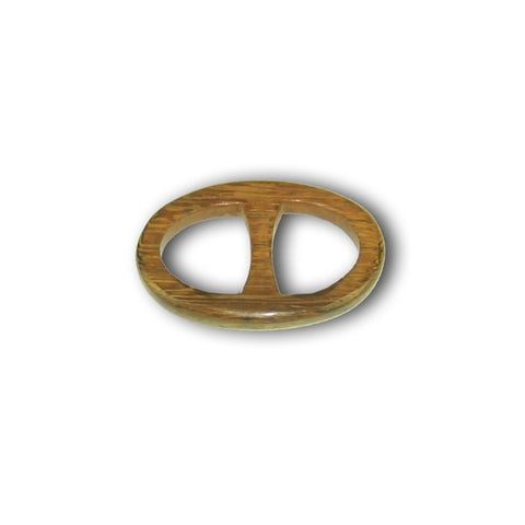 Exotic wood handcrafted scarf ring. Medium size. A fun, essential, and versatile complementary to your ANNE TOURAINE Paris™ silk scarves. (1)