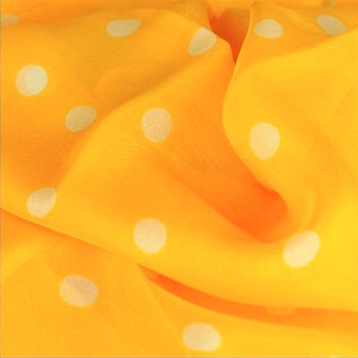 Orange polka dot silk chiffon scarf, oblong shape. Lightweight and easy to tie. Scarf by ANNE TOURAINE Paris™ (4)