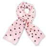Pink polka dot silk chiffon scarf, oblong shape. Lightweight and easy to tie. Scarf by ANNE TOURAINE Paris™ (0)