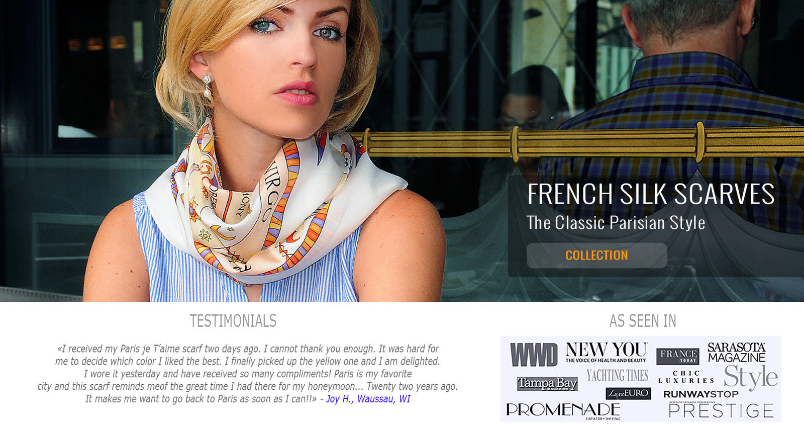 Designer luxury french silk scarves by ANNE TOURAINE Paris™