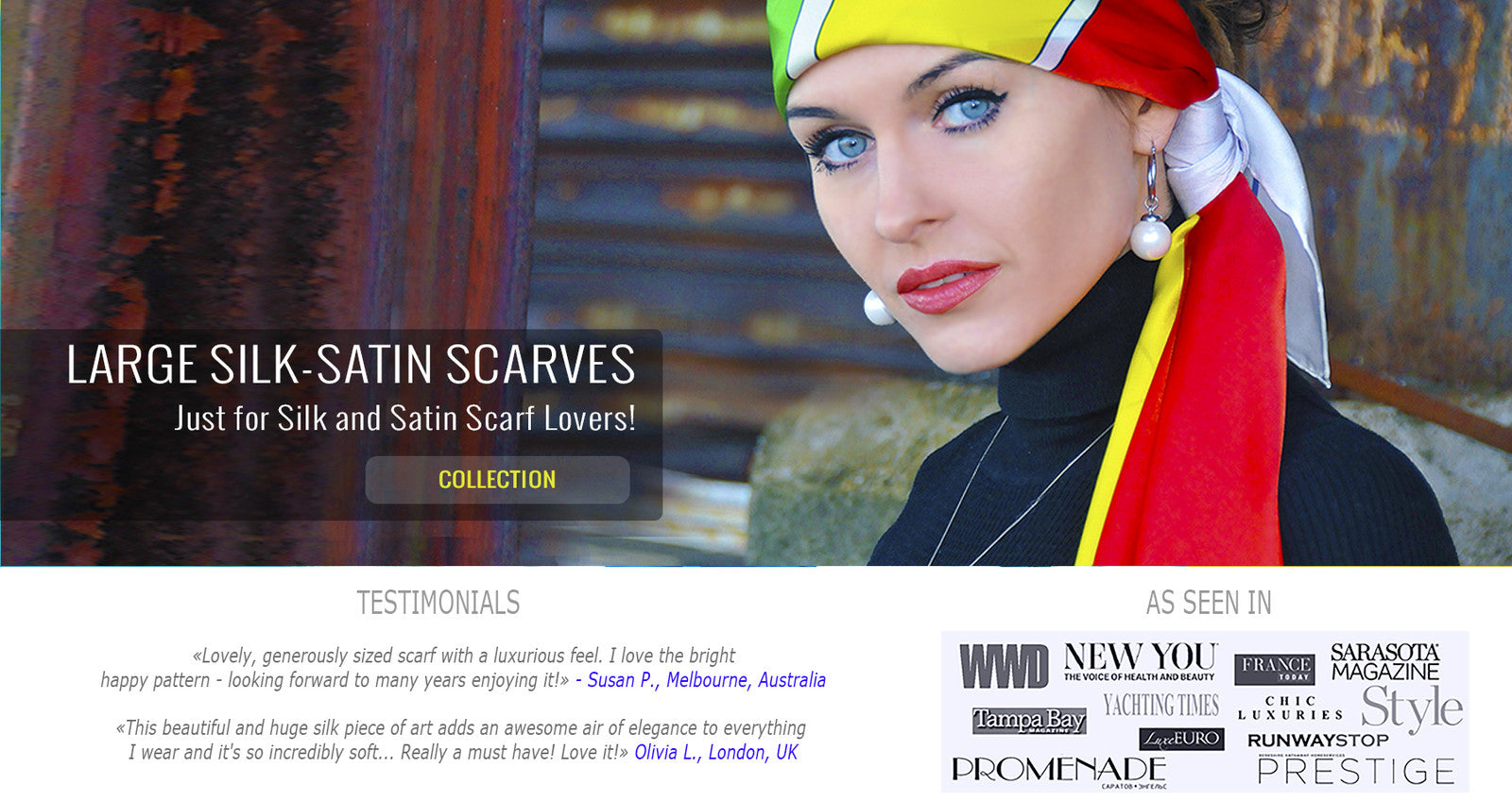 Best extra large designer silk scarves by ANNE TOURAINE Paris™