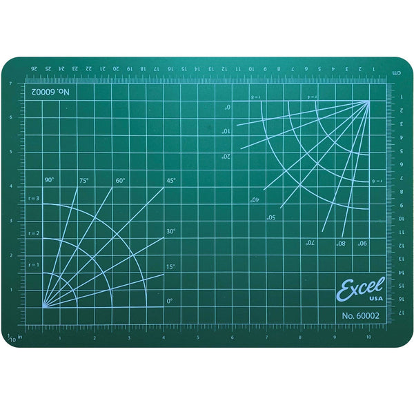 "Excel Self Healing Cutting Mat Green 8.5""x 12"""