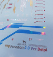 Delpi Decal - MG FREEDOM 2.0 HOLO WATER DECAL