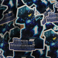"Limited Edition: Mecha Warehouse ""A Night at the Warehouse"" Sticker"