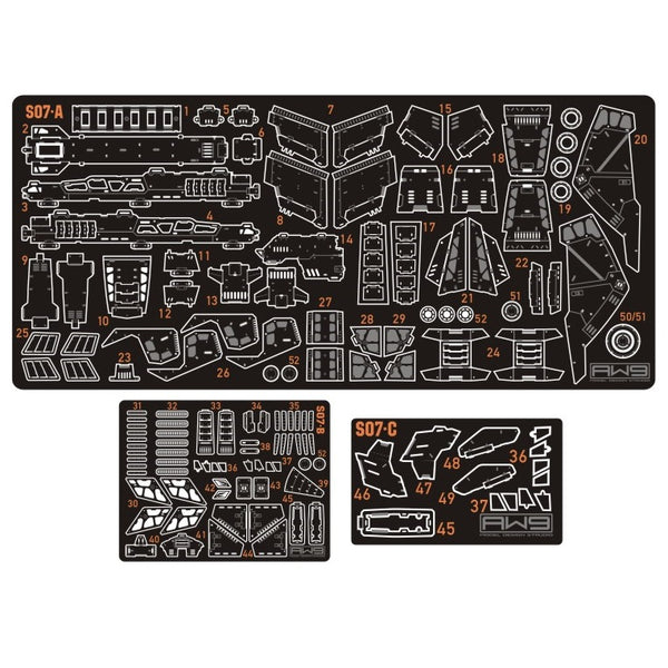 Madworks - AW9 Etching Parts for HGUC MSN-06S-2 Sinanju Stein