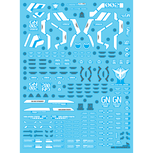 Delpi Decal - MG DYNAMES WATER DECAL (HOLO)