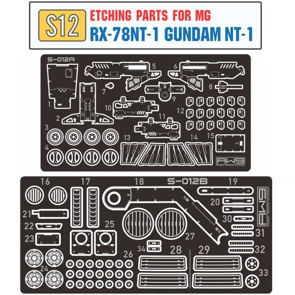 Madworks - AW9 Etching Parts for MG RX-78NT-1 Gundam NT-1 Ver.2.0