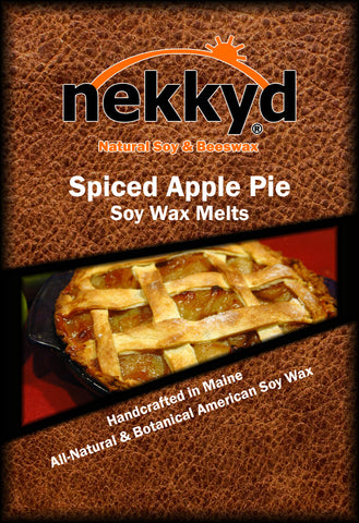 Spiced Apple Pie Soy Wax Melt - nekkyd - Natural Soy, Hemp and Beeswax Products