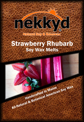 Strawberry Rhubarb Soy Wax Melt - nekkyd - Natural Soy, Hemp and Beeswax products located in Lewiston Maine