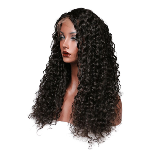 Black Curly Lace Front 100% Human Virgin hair