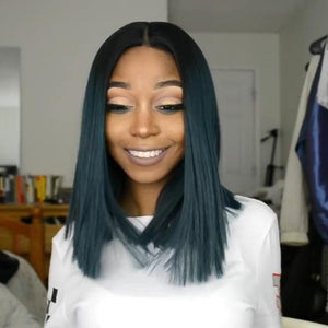 Malachite green Party straight wig