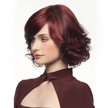 Load image into Gallery viewer, Real mixed red wavy full wig