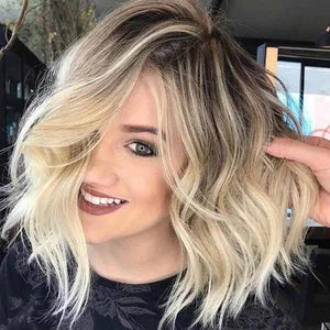 Blonde Wave Shoulder Length Wigs