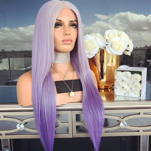 Pretty Charming Purple Girl Straight Wig