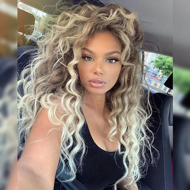 Long Curly Blonde Wig Glueless Party Daily Wear