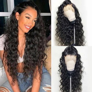 Curly Pre Plucked Heat Resistant Black Wigs