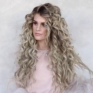 Long Curly Blonde Wig Glueless Daily Wear
