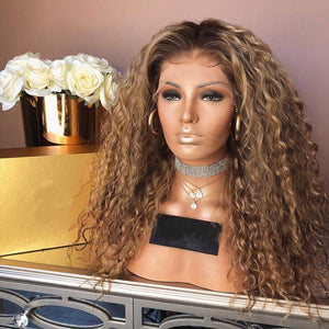 BLonde Heat resistant full wig for woman