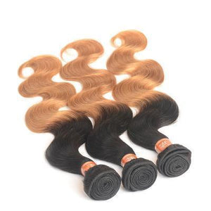 100% Human Hair Two-color gradient curly hair weft