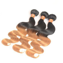 Load image into Gallery viewer, 100% Human Hair Two-color gradient curly hair weft
