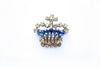 1940s Rhinestone Crown Brooch