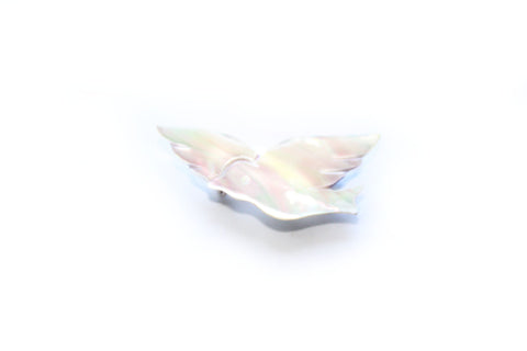 1970s Mother of Pearl Dove Brooch