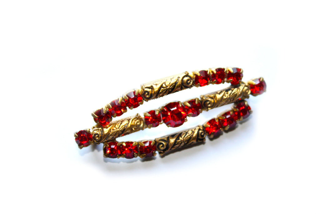 1920s/1930s Red Stone Brooch