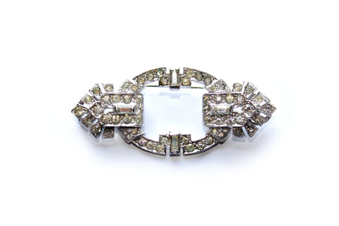 Art Deco Diamanté Double Dress Clip