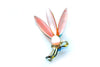 1950s Baby Pink Pearlised Lucite Lily Brooch