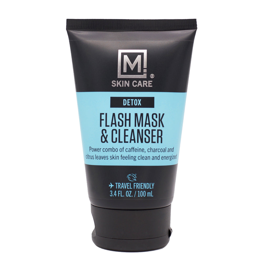 m skin care flash mask and cleanser